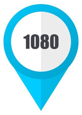 1080 blue pointer icon Stock Photo