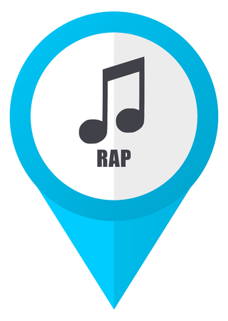 Rap music blue pointer icon