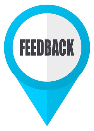 Feedback blue pointer icon