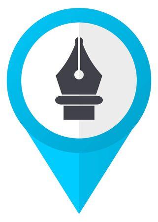 Pen blue pointer icon