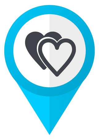 Love blue pointer icon