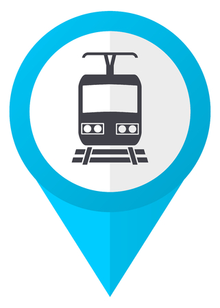Train blue pointer icon