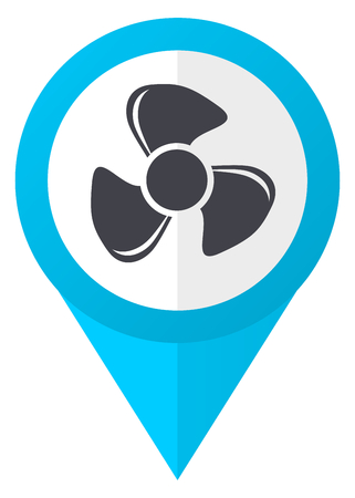 map pin: Fan blue pointer icon