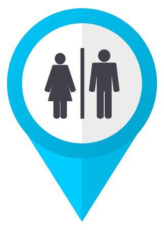 toilet: Man and Woman blue pointer icon