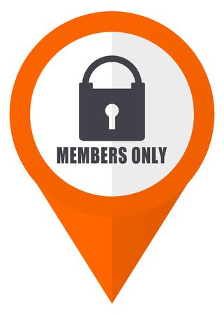 Membri solo arancione puntatore vettore icona in eps 10 isolato su sfondo bianco. Archivio Fotografico - 84230483