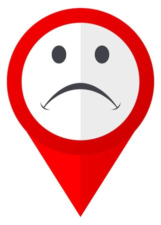 validation: Cry red web pointer icon. Webdesign button on white background. Stock Photo