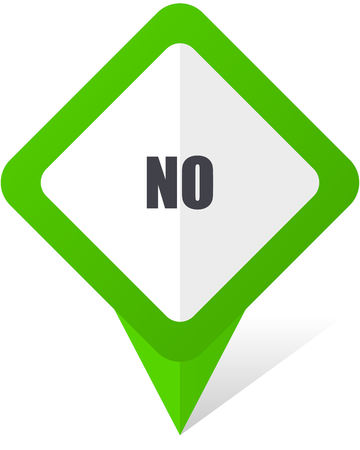 validation: No green square pointer vector icon in eps 10 on white background with shadow. Illustration