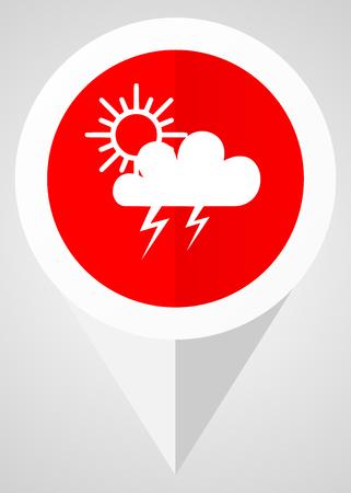 Storm vector icon Illustration