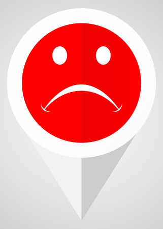 Cry vector icon. White and red web pointer in eps 10 for webdesign and smartphone applications.