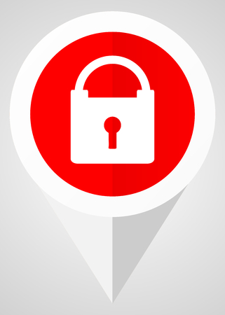 trusted: Padlock vector icon Illustration