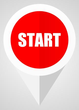 beginnings: Start vector icon