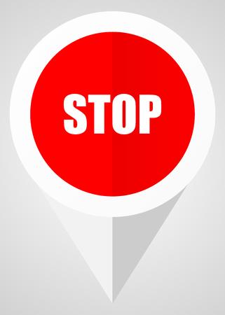Stop vector icon