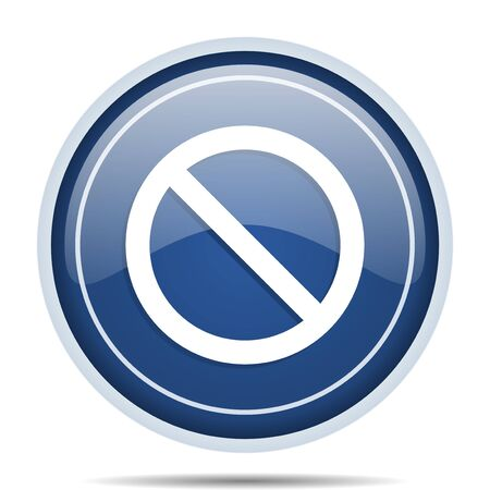 Access denied blue round web icon. Circle isolated internet button for webdesign and smartphone applications. Stock Photo