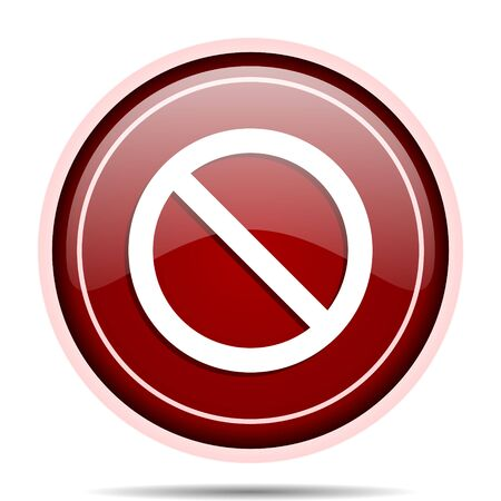 Access denied red glossy round web icon. Circle isolated internet button for webdesign and smartphone applications. Stock Photo