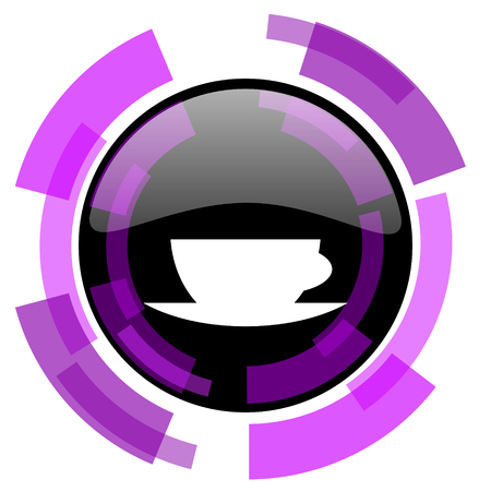 smarthone: Espresso pink violet modern design vector web and smartphone icon. Round button in eps 10 isolated on white background.