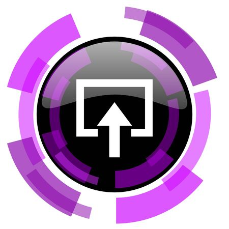 smarthone: Enter pink violet modern design vector web and smartphone icon. Round button in eps 10 isolated on white background.