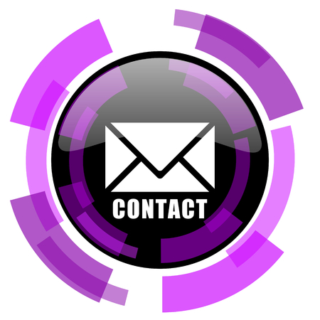 Email pink violet modern design vector web and smartphone icon. Round button in eps 10 isolated on white background. Illustration