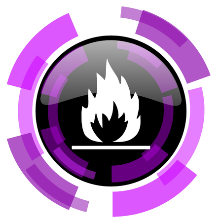 smarthone: Flame pink violet modern design vector web and smartphone icon. Round button in eps 10 isolated on white background.
