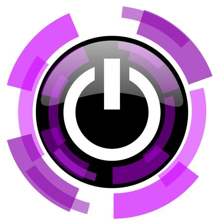 Vektornetz des rosa violetten modernen Designs der Energie und Smartphoneikone. Runder Knopf in ENV 10 lokalisiert auf weißem Hintergrund.