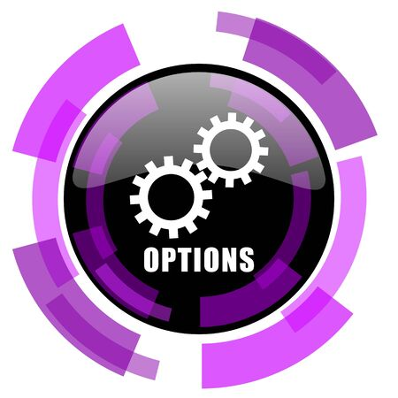 Options pink violet modern design vector web and smartphone icon. Stock Illustratie