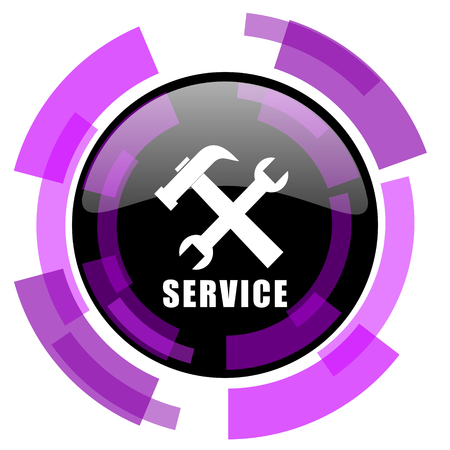 Service pink violet modern design vector web and smartphone icon