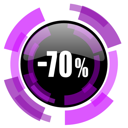 70 percent sale retail pink violet modern design vector web and smartphone icon