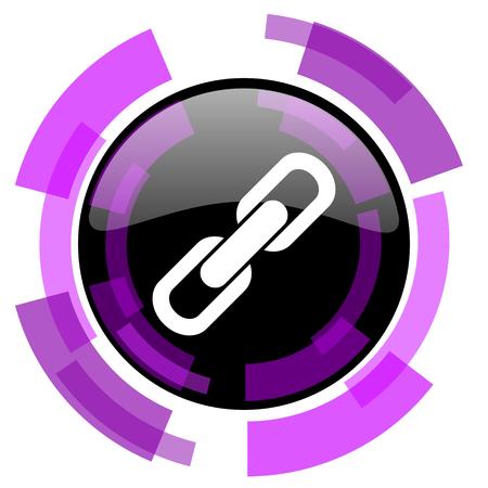 Verbind roze violet modern ontwerp vectorweb en smartphonepictogram
