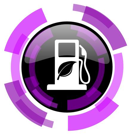 바이오 연료 핑크 바이올렛 현대 디자인 벡터 웹 및 스마트 폰 아이콘 일러스트