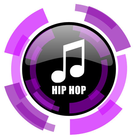Hip hop pink violet modern design vector web and smartphone icon