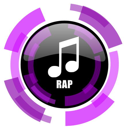 Rap music pink violet modern design vector web and smartphone icon