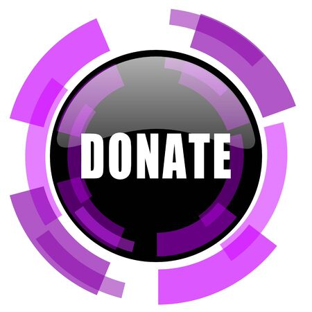 Donate pink violet modern design vector web and smartphone icon