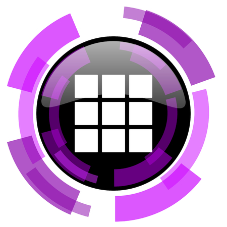 Thumbnails grid pink violet modern design vector web and smartphone icon
