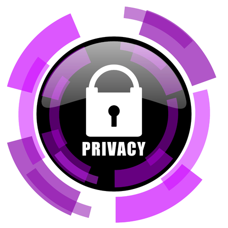 Privacy pink violet modern design vector web and smartphone icon