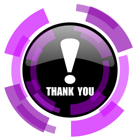 Thank you pink violet modern design vector web and smartphone icon
