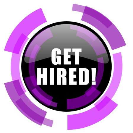 Get hired pink violet modern design vector web and smartphone icon