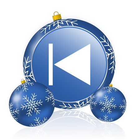 Prev blue christmas balls icon
