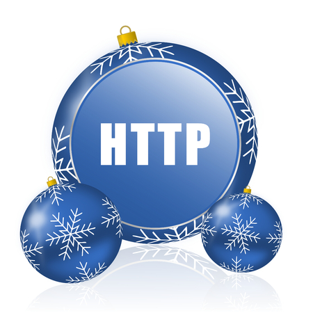 Http blue christmas balls icon
