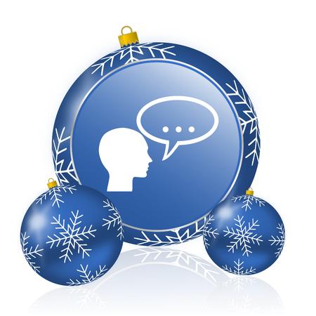 Forum blue christmas balls icon