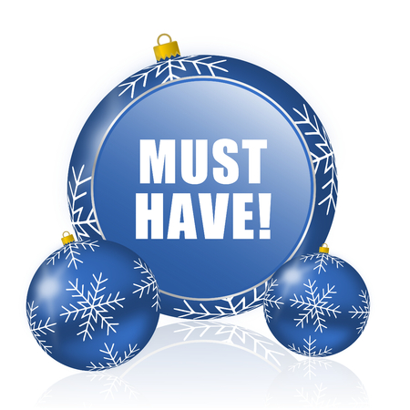 Must have blue christmas balls icon