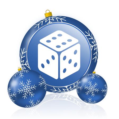 Game blue christmas balls icon