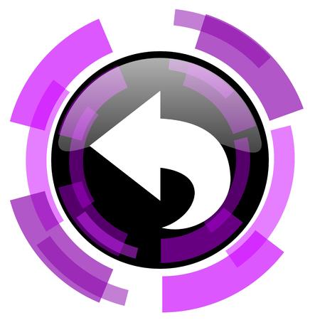 Back pink violet modern design vector web and smartphone icon.