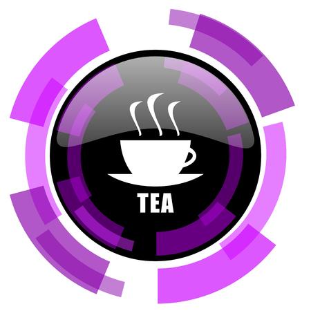 Tea pink violet modern design vector web and smartphone icon. Illustration