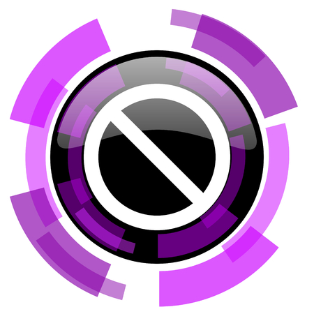 Access denied pink violet modern design vector web and smartphone icon.