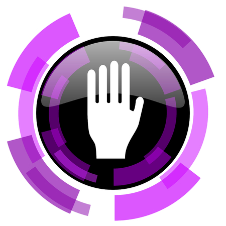 Stop pink violet modern design vector web and smartphone icon.