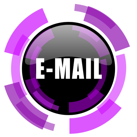Email pink violet modern design vector web and smartphone icon. Illustration