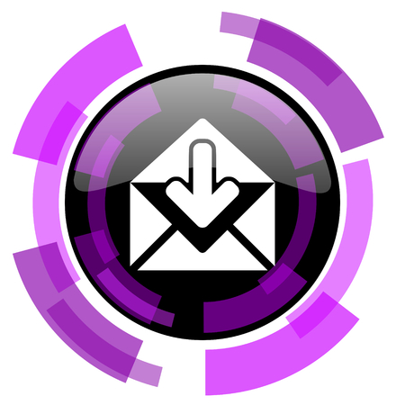 Email pink violet modern design vector web and smartphone icon. Illustration