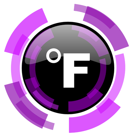 Fahrenheit pink violet modern design vector web and smartphone icon. Illusztráció
