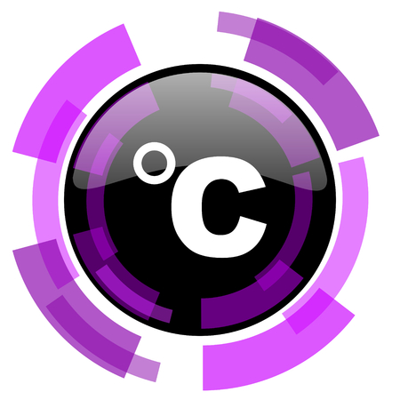Celsius pink violet modern design vector web and smartphone icon.