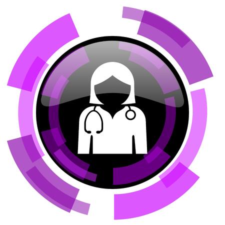 Doctor pink violet modern design vector web and smartphone icon.