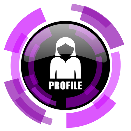 Profile pink violet modern design vector web and smartphone icon.